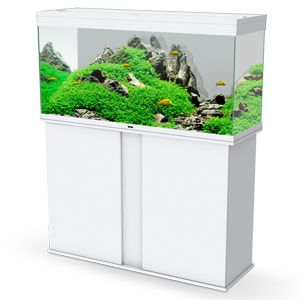 Pro 120 WHITE Aquarium & WHITE Cabinet